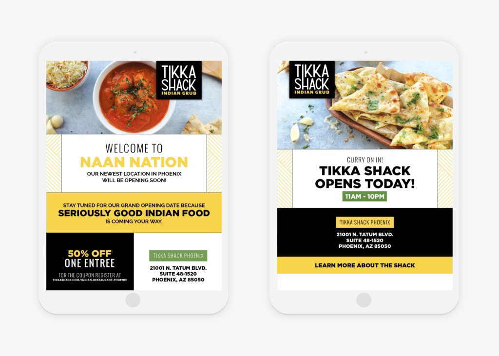 indian food launch campaign design