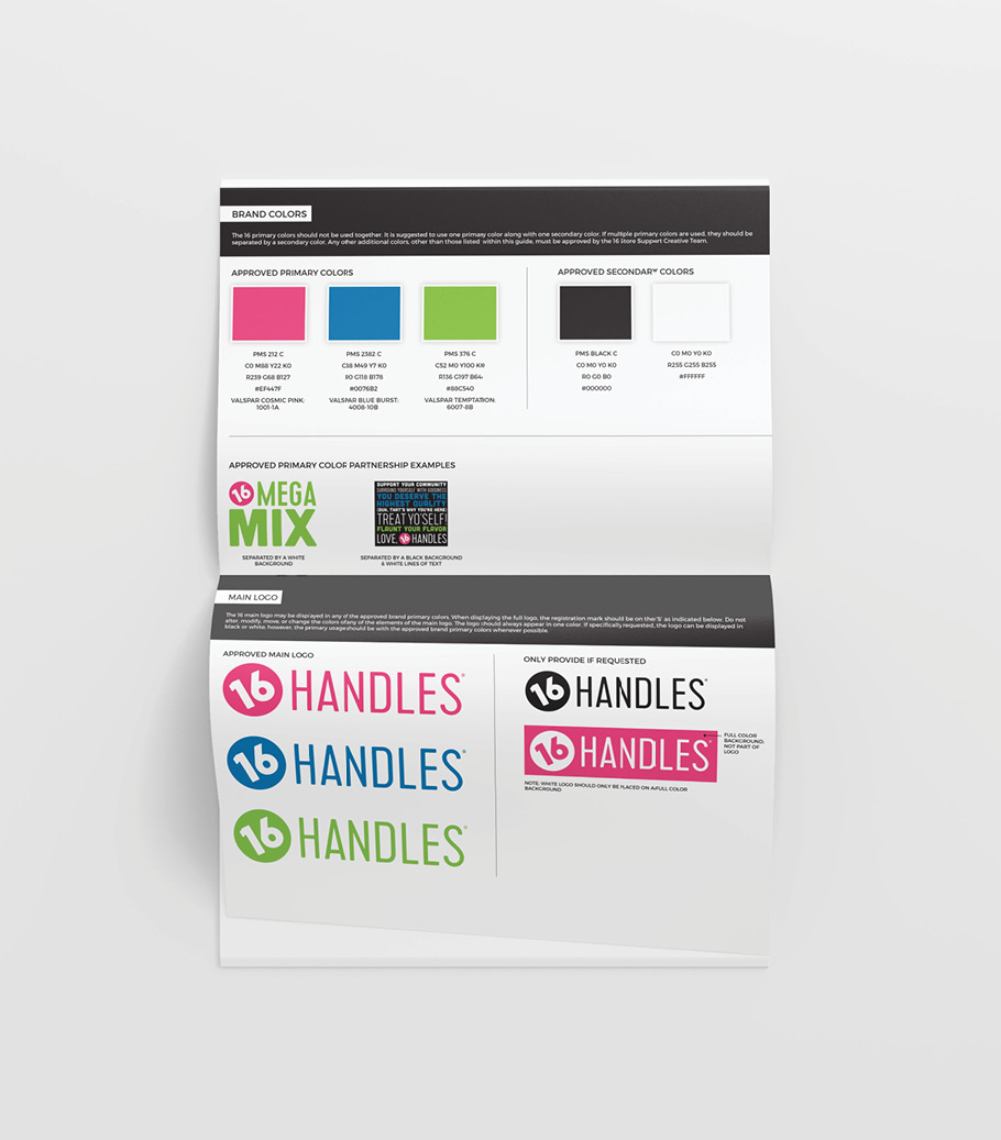 16 Handles Restaurant Brand Guidelines
