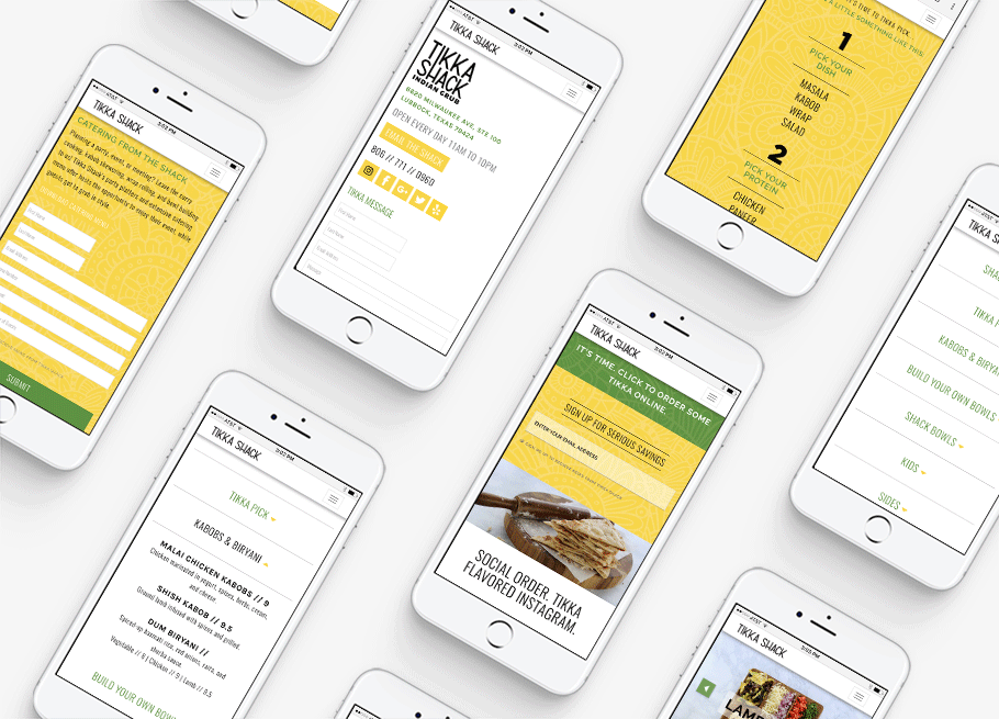 Responsive Indian Food Website Design
