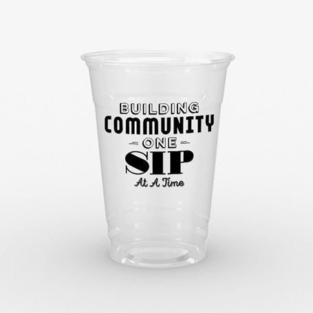 Pizza Restaurant Clear Cup Design