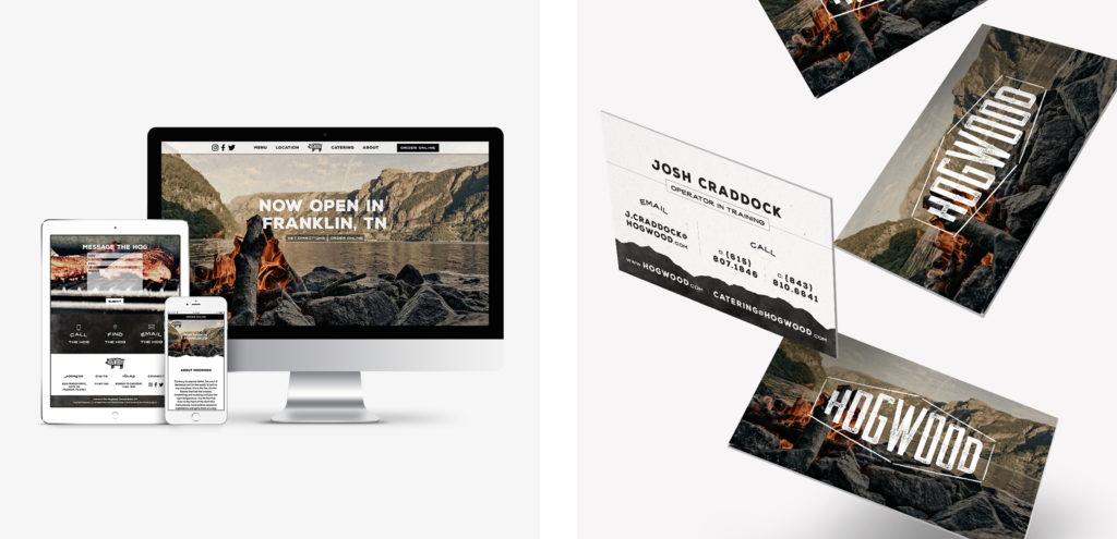 Website Business Card Graphic Design Restaurant