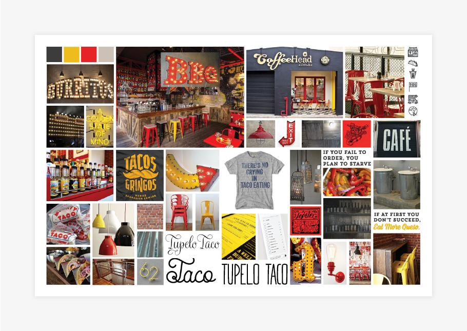 taco restaurant brand board