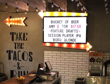 taco restaurant interior