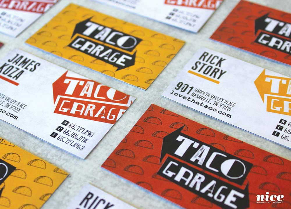 Taco restaurant business cards