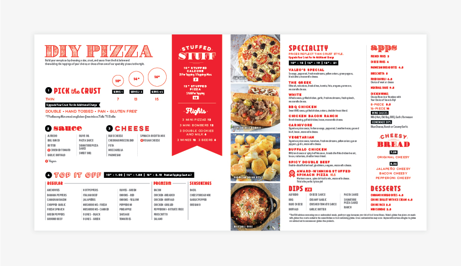 Pizzeria Restaurant menu design