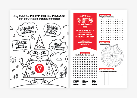 pizza restaurant menu design