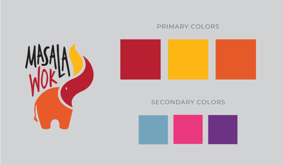 restaurant logo palette