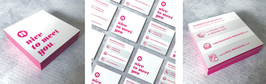 nice branding business card
