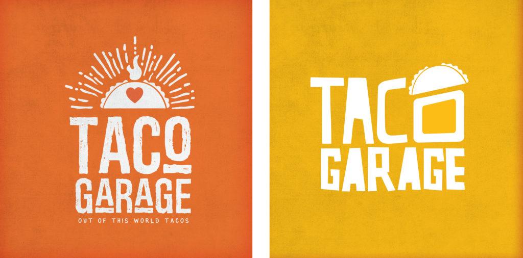 taco logo iterations graphic design