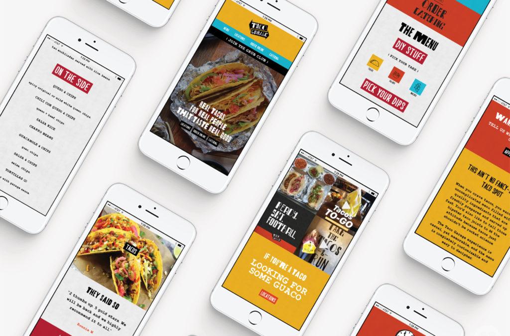 mobile website design tacos