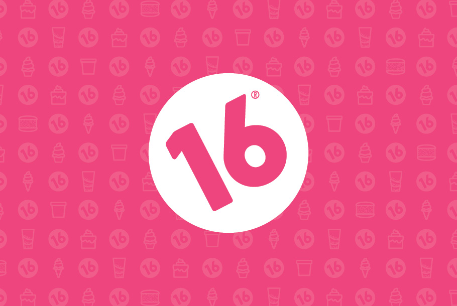 16 Handles Logo Design with Pattern