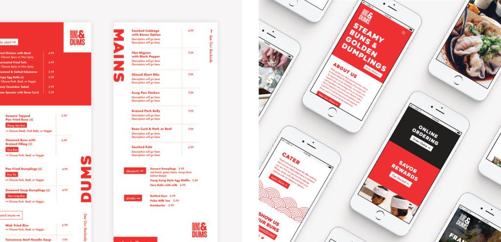 Menu Design Website Development