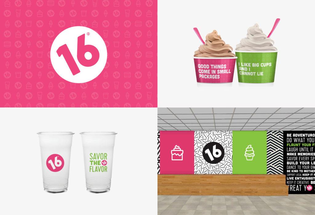 ice cream shop graphic design brand