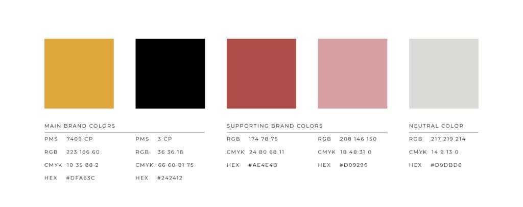 Restaurant Color palette design