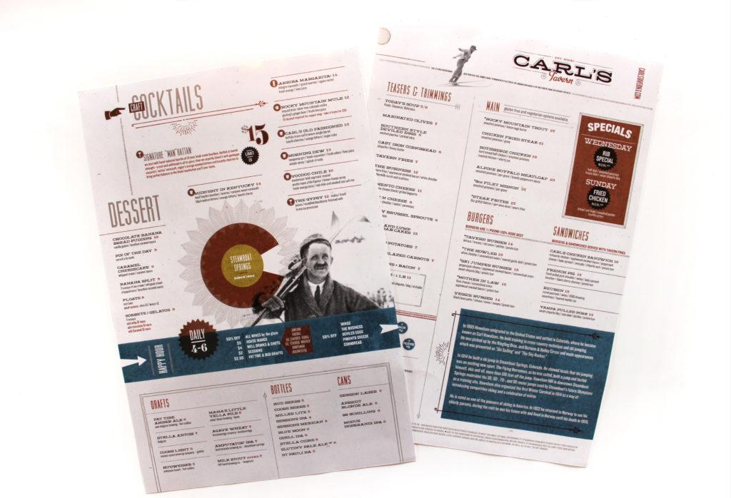 carls tavern menu design review