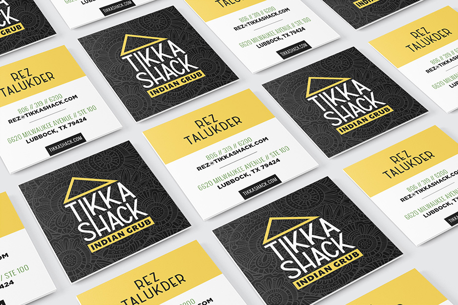 Restaurant Branding Business cards