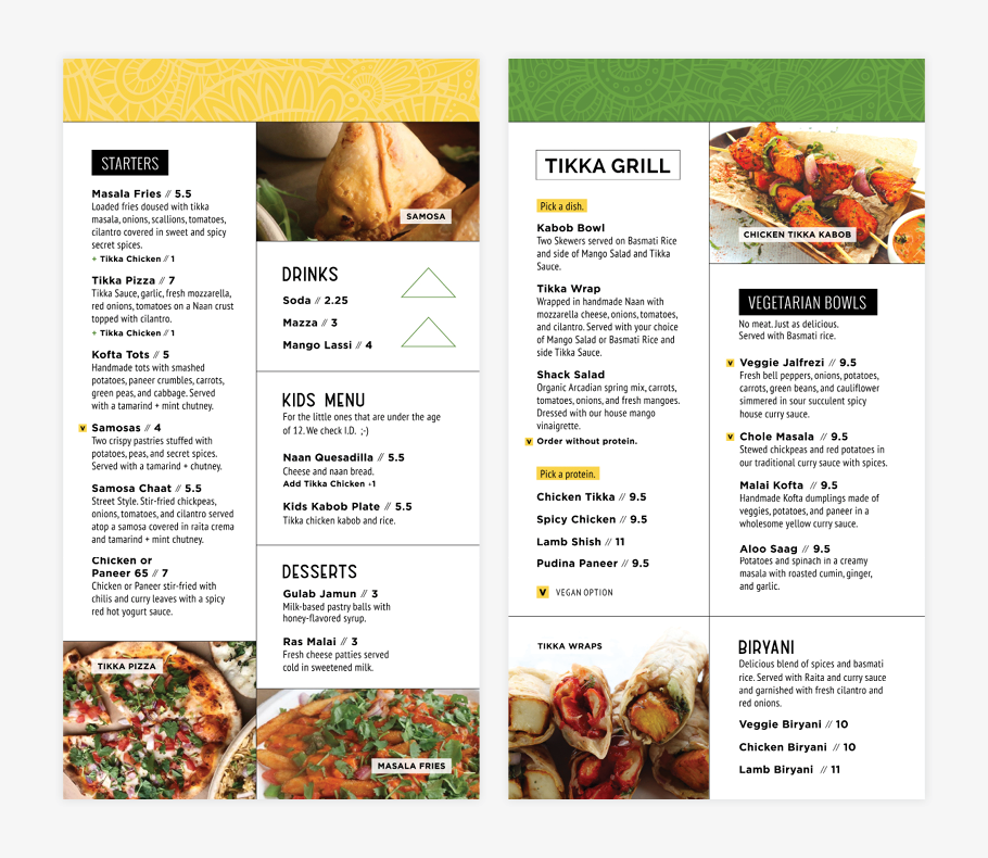 Restaurant Branding Menu boards