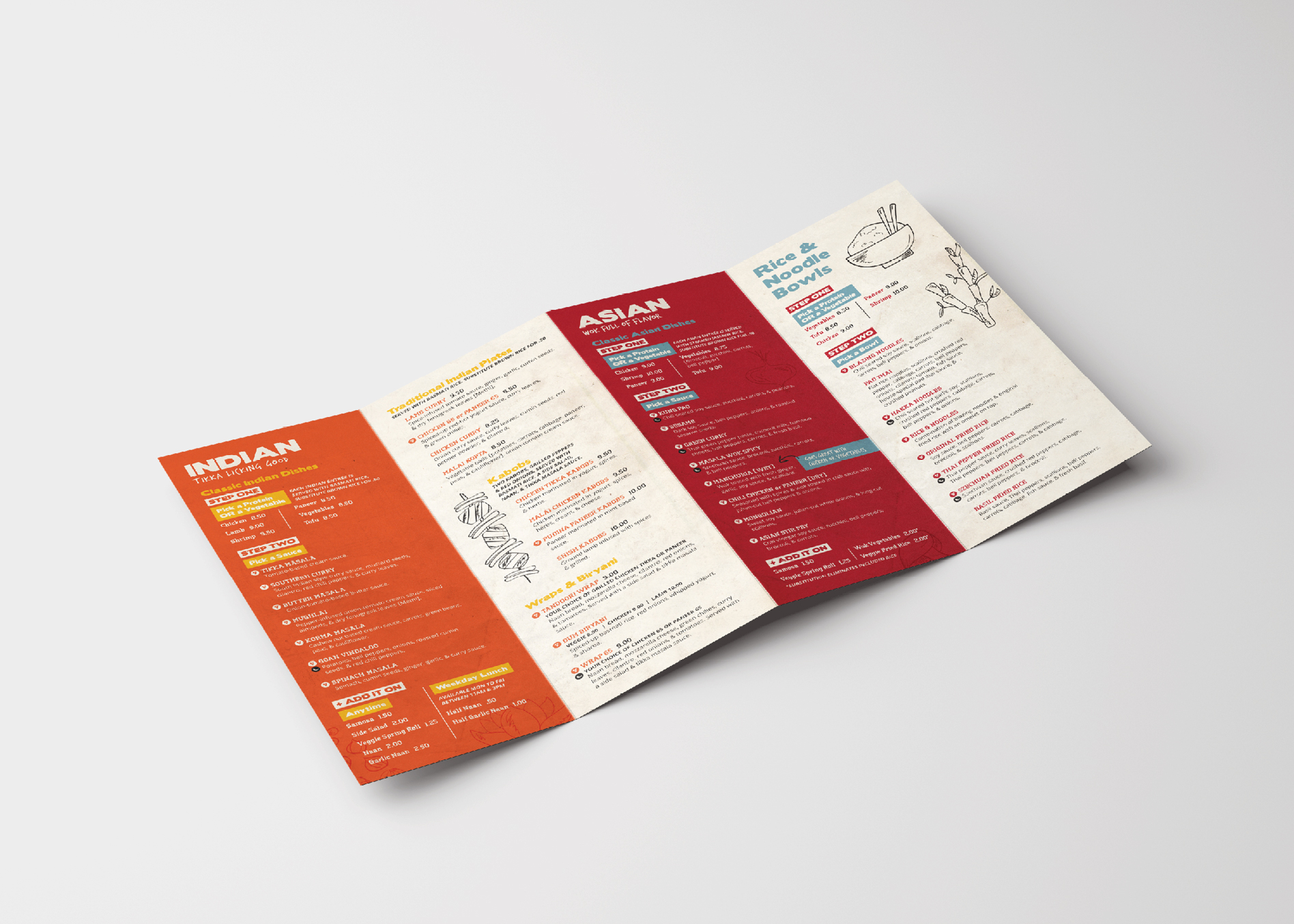 restaurant collateral design