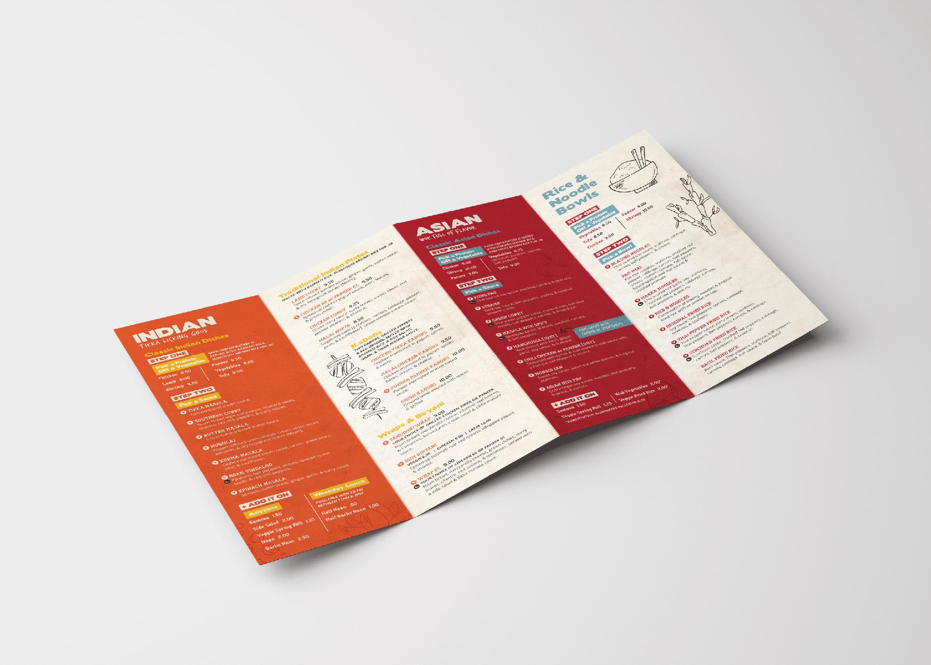 restaurant collateral design