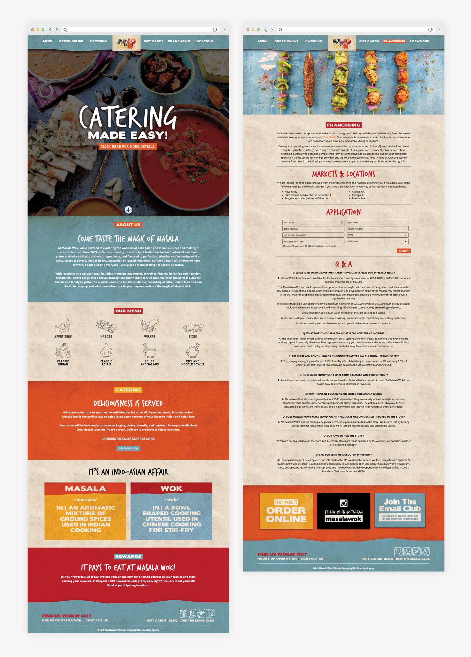 restaurant web development