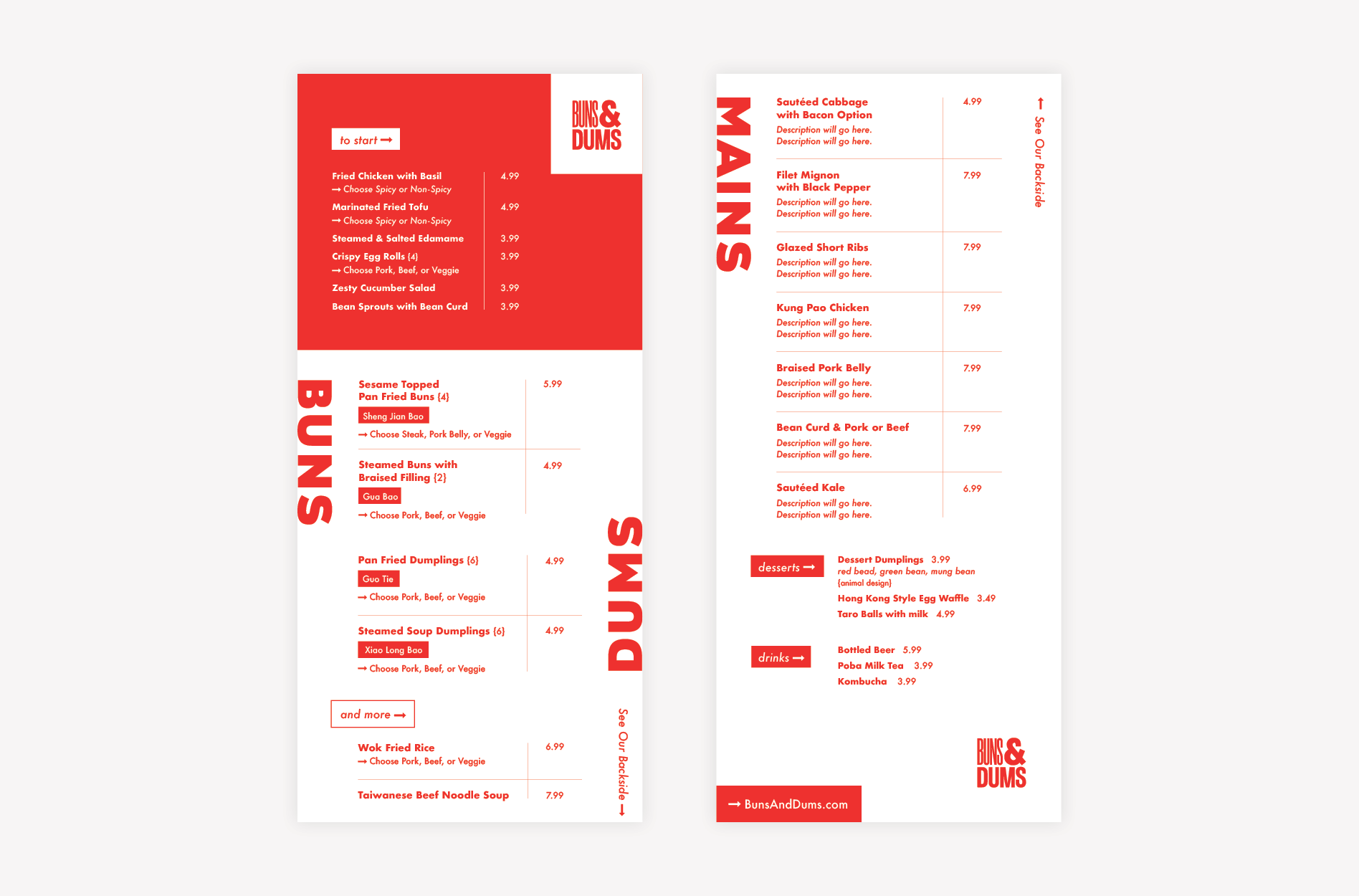 asian menu design