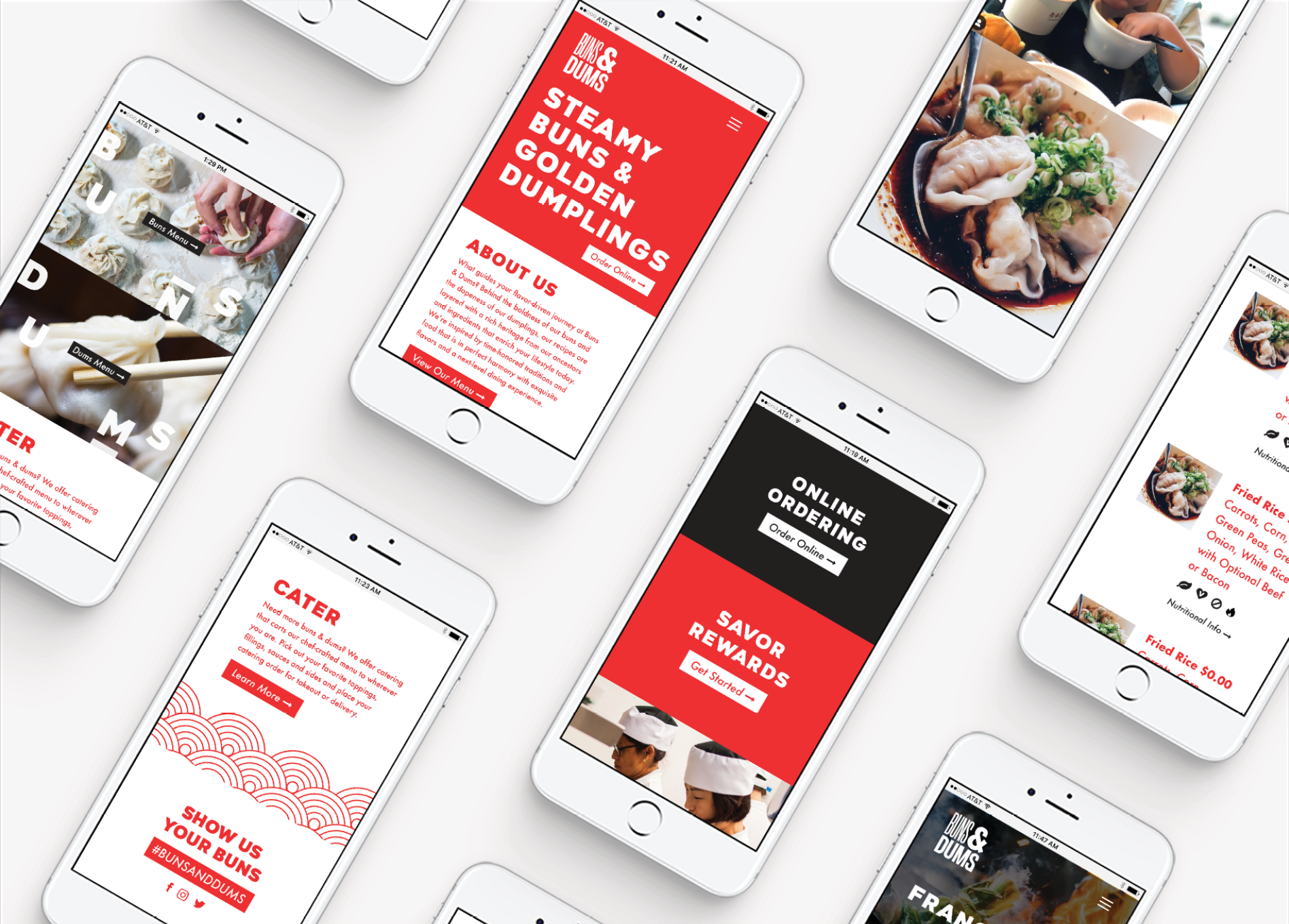asian restaurant mobile web design