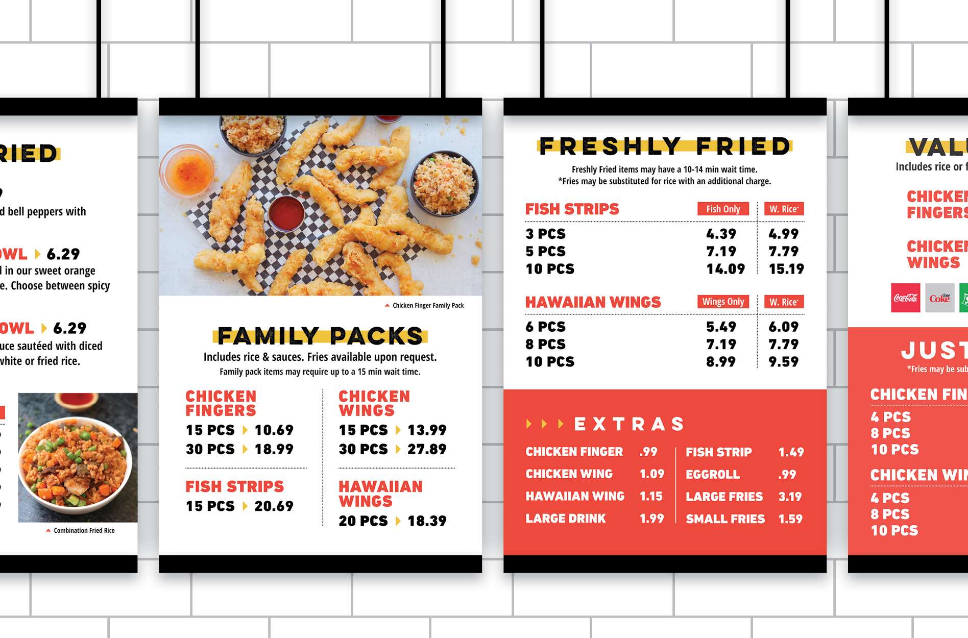 chicken menu boards design