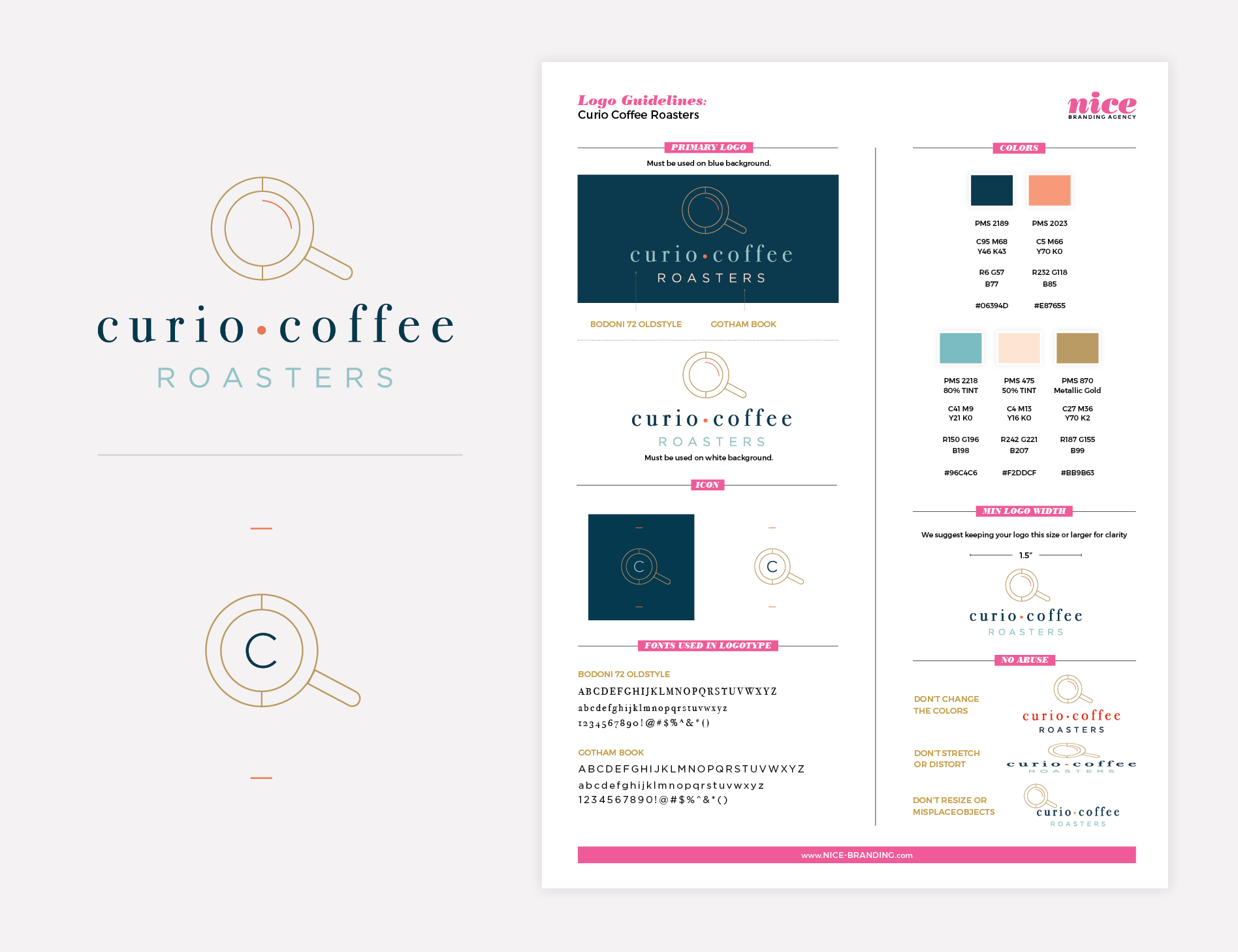 coffee shop logo guidelines