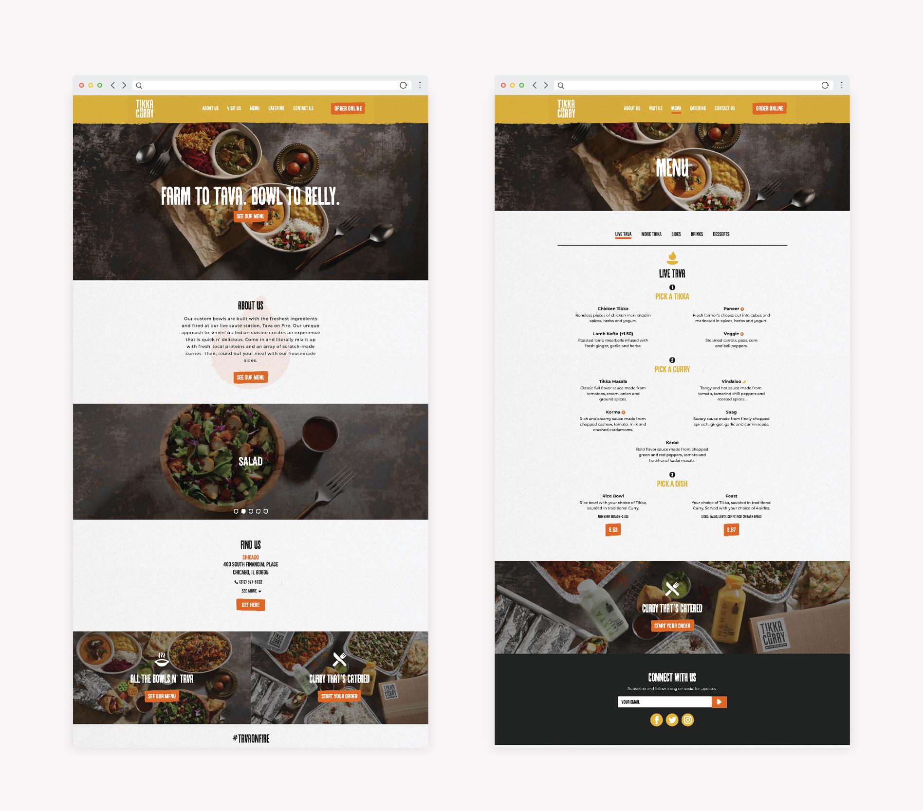 indian food restaurant web design