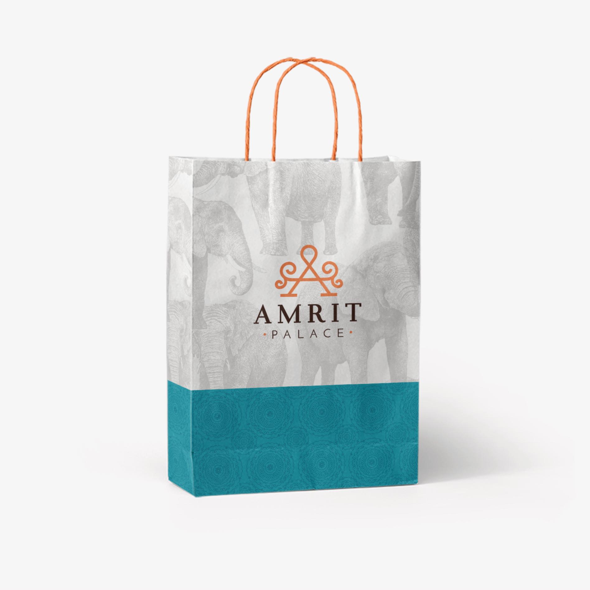 indian restaurant bag design