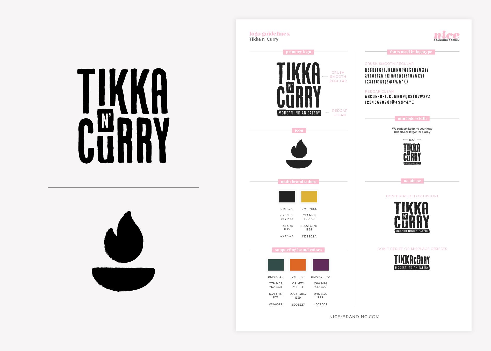 indian restaurant logo guidelines