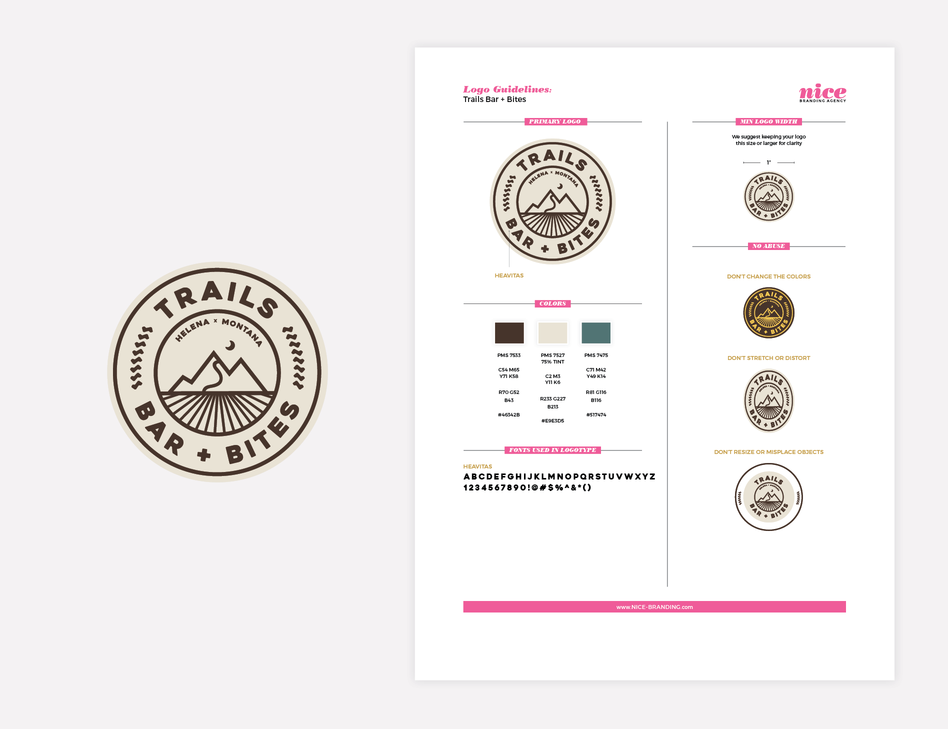 restaurant bar logo guideline sheet