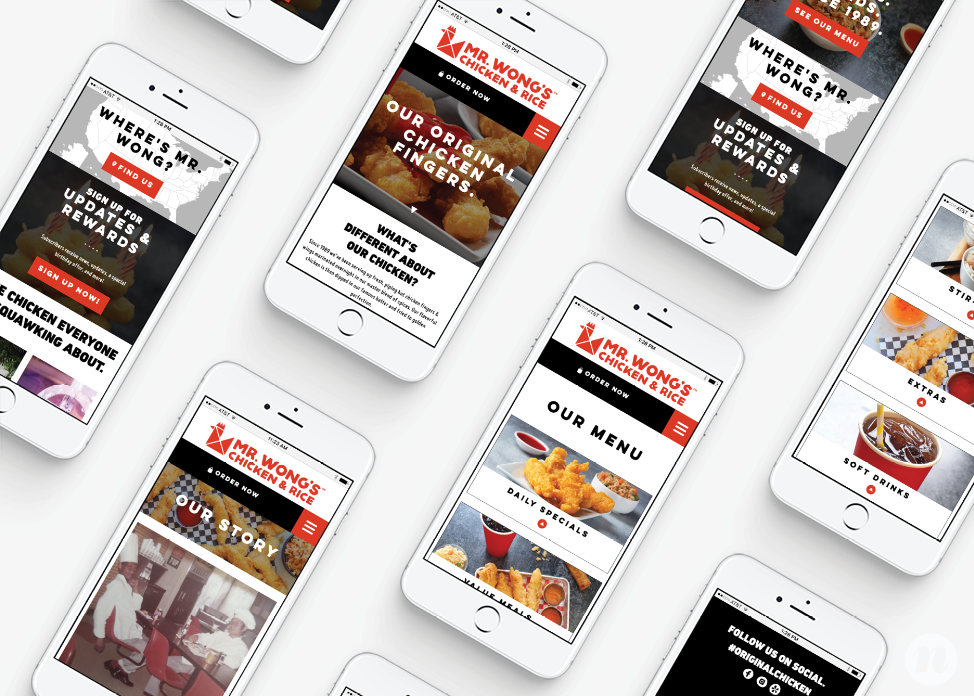 restaurant mobile web design