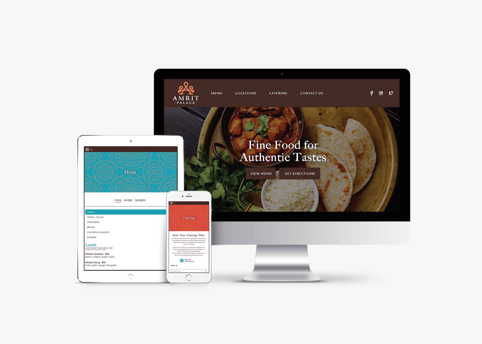 restaurant responsive website design