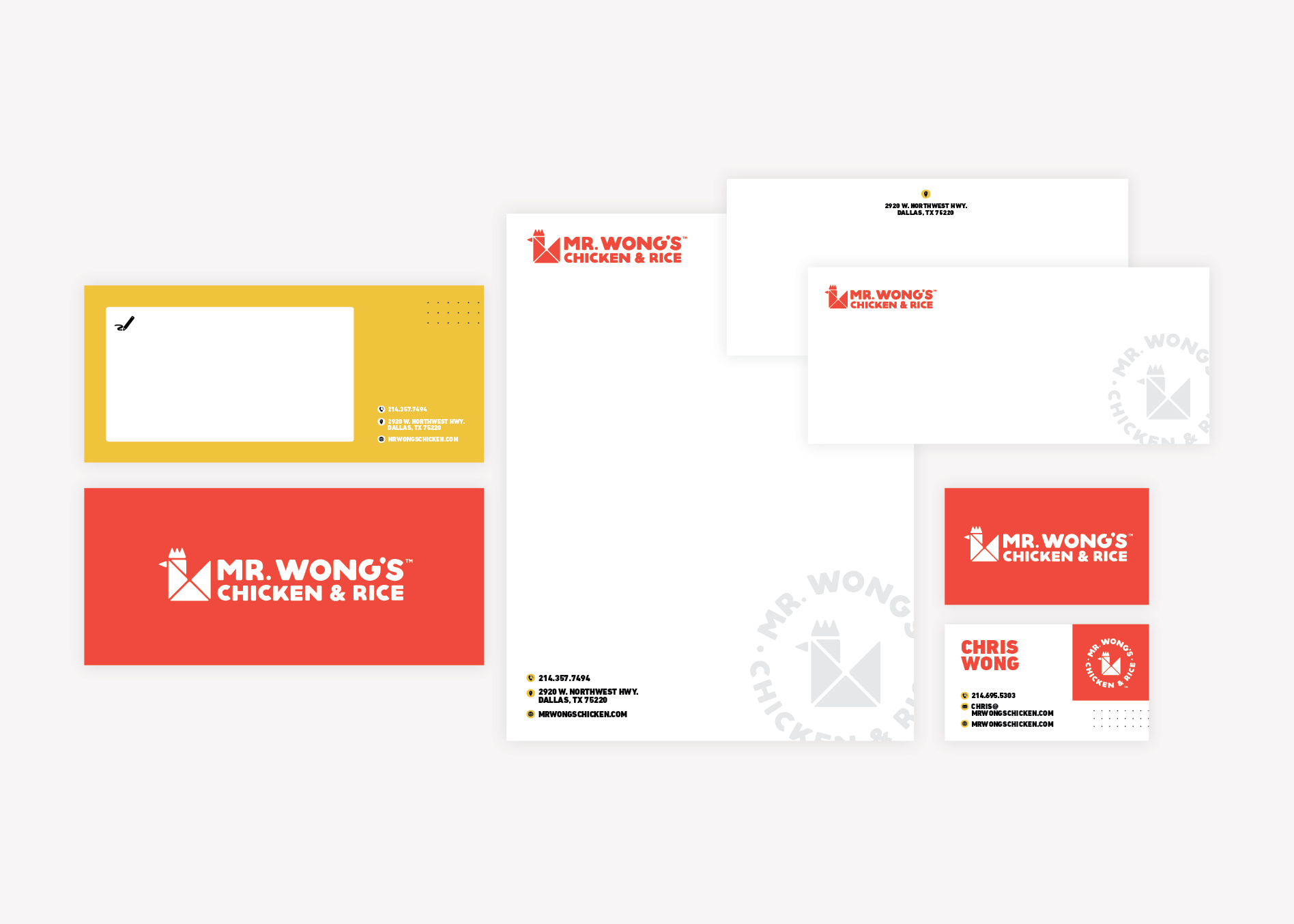 restaurant stationery package design