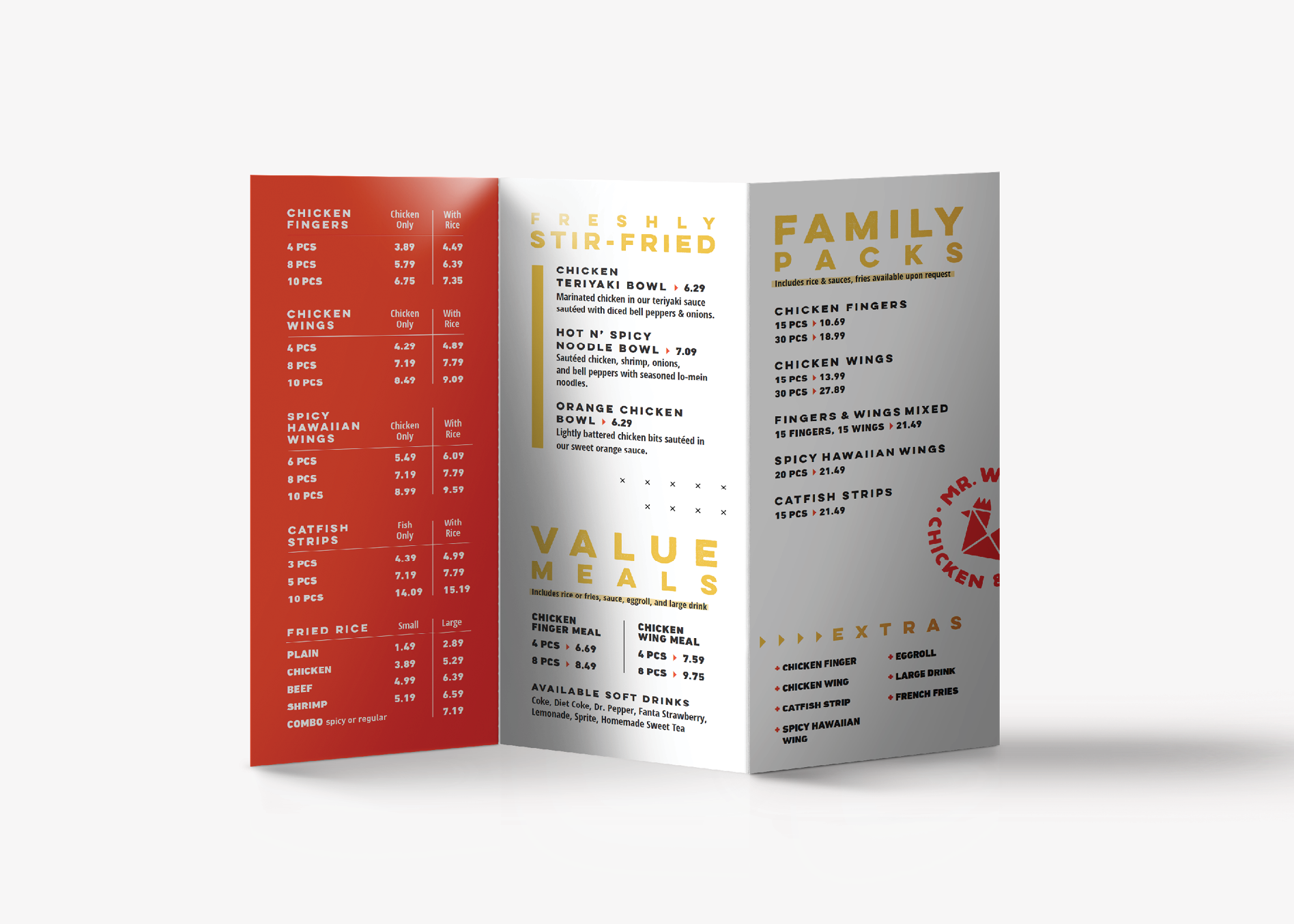 restaurant togo menu graphic design