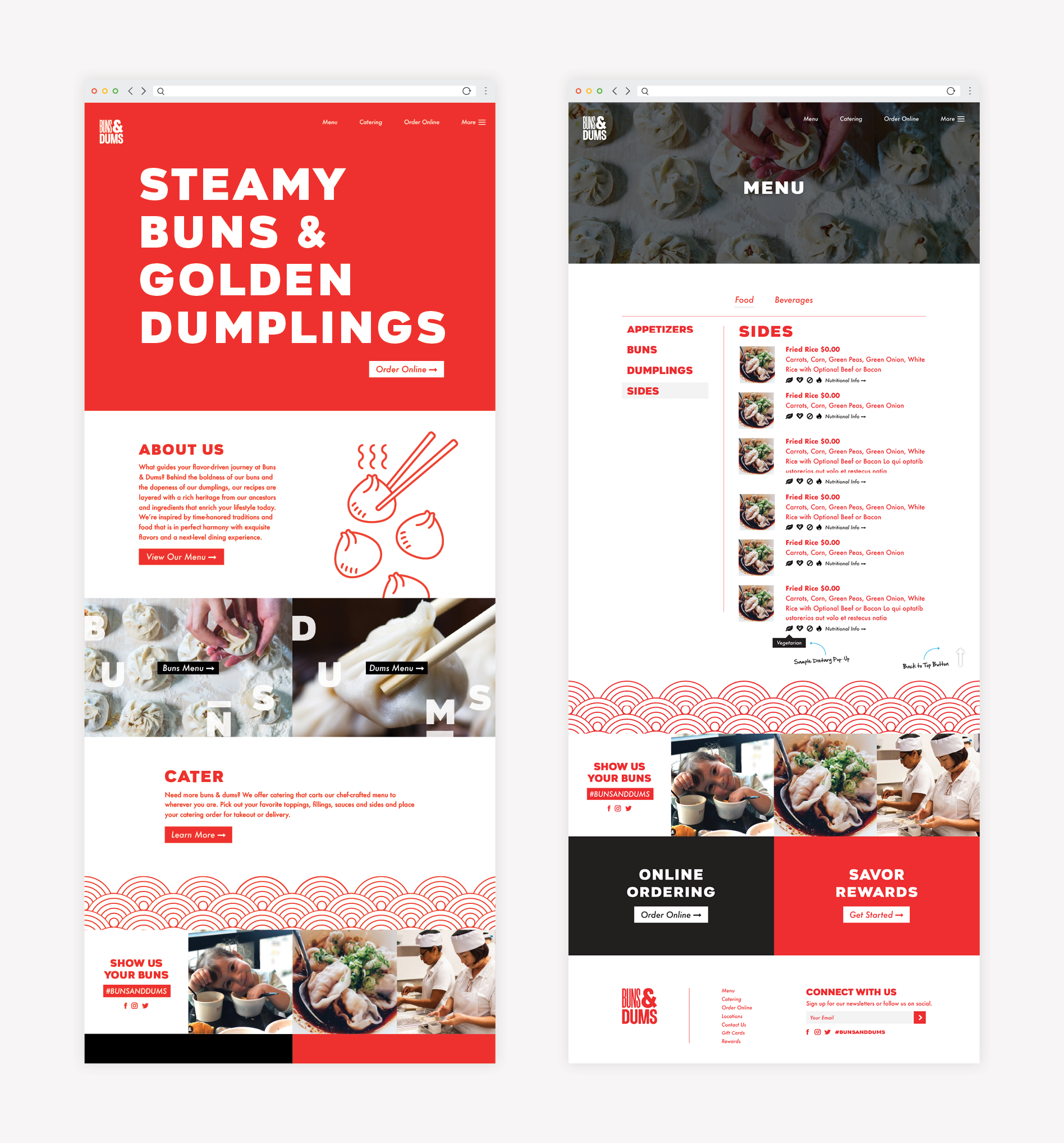 restaurant website development design