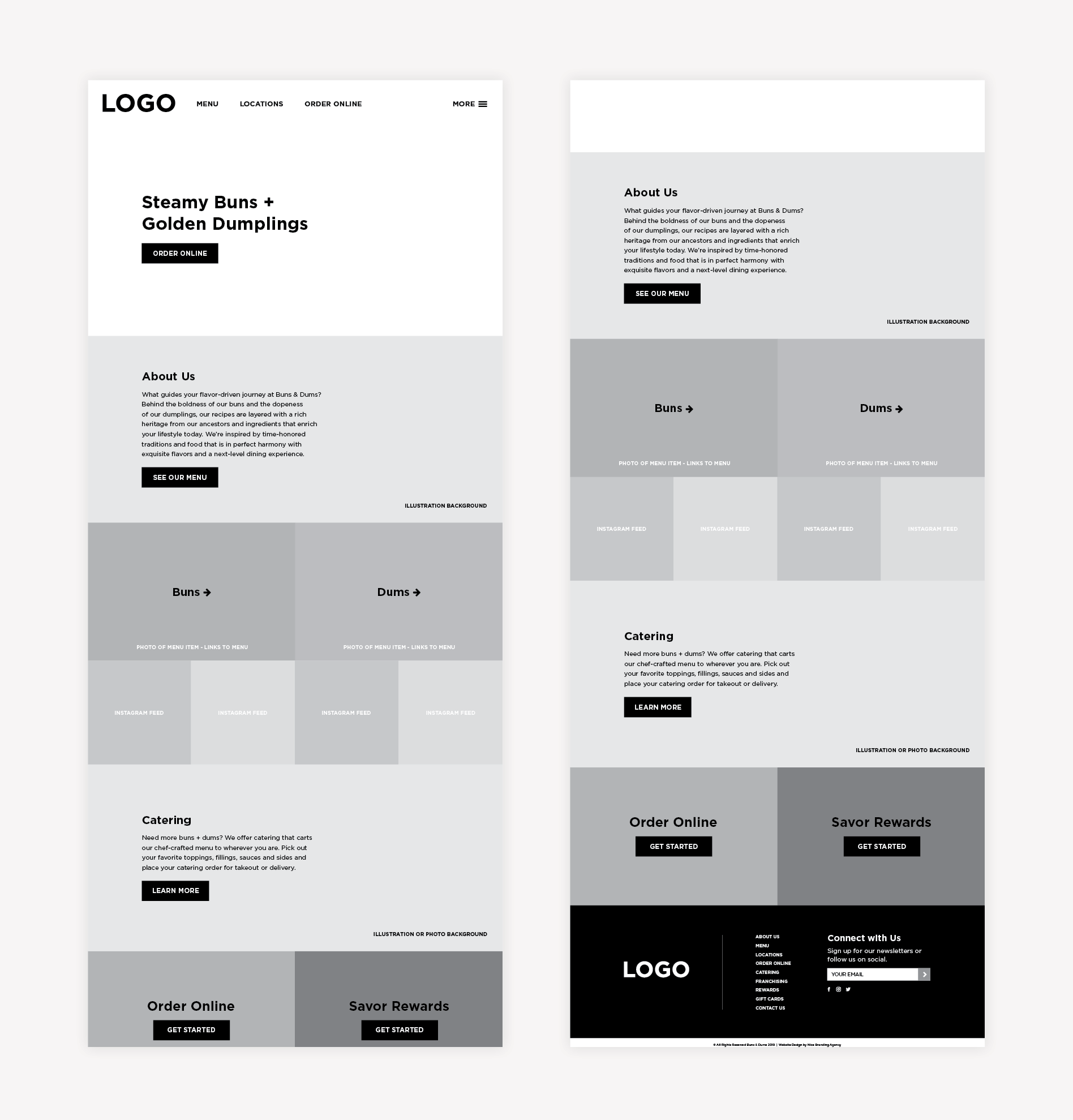 restaurant wireframe graphic design