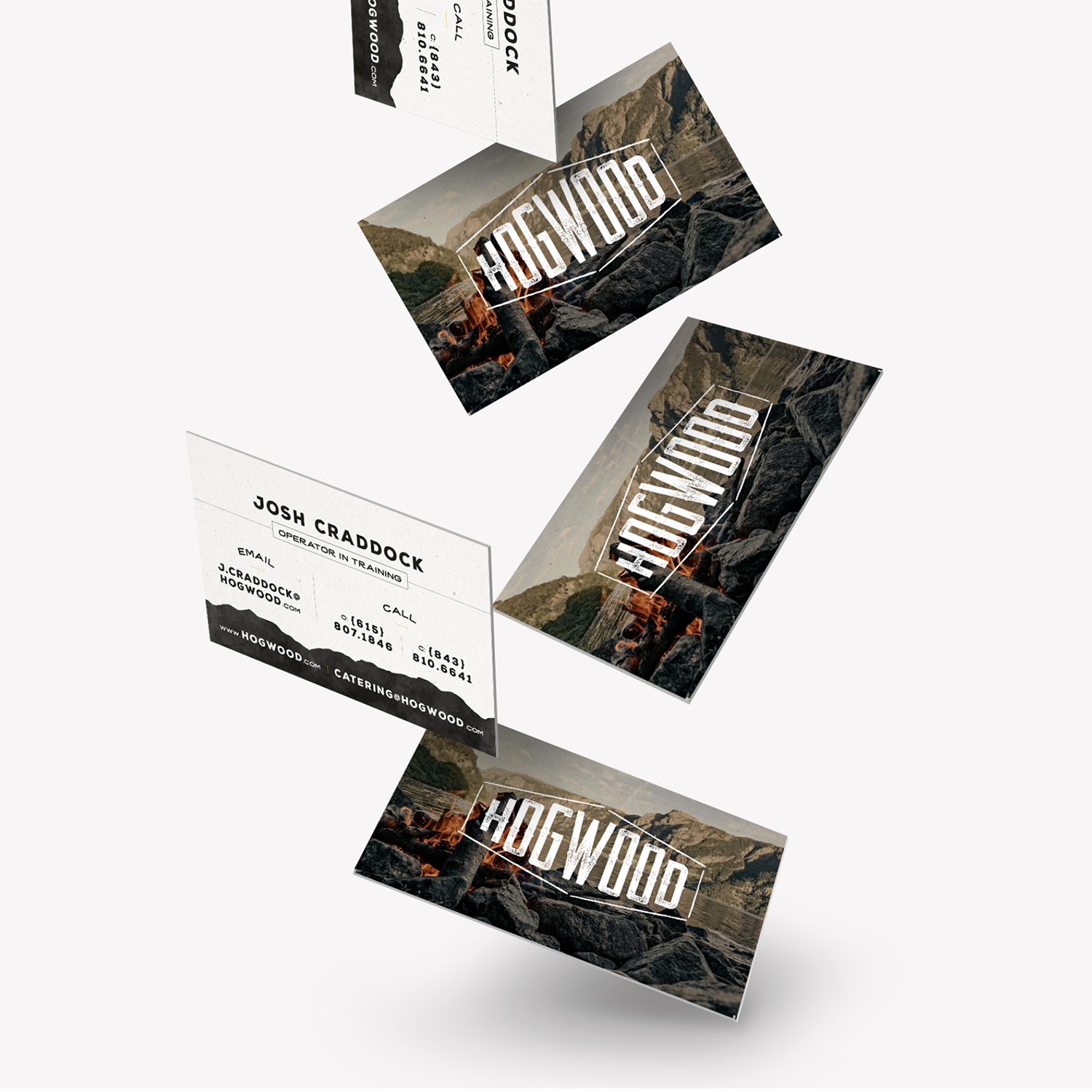 bbq restaurant business card design