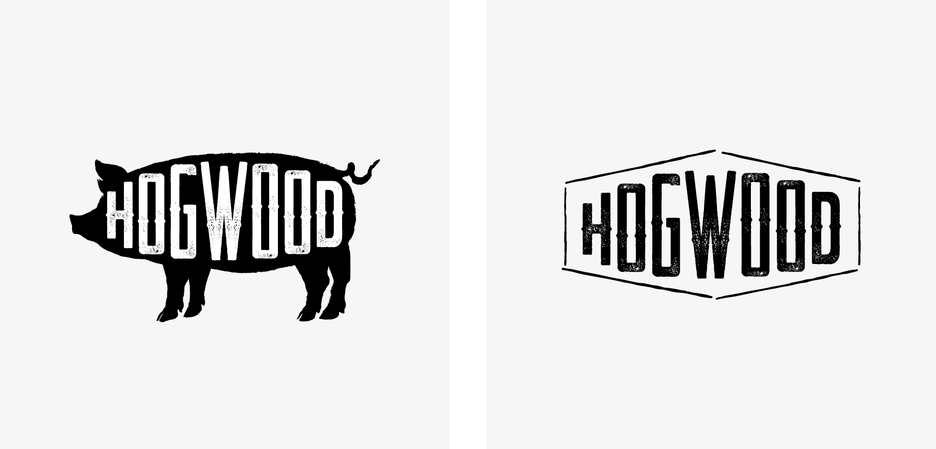 bbq restaurant logo icon design