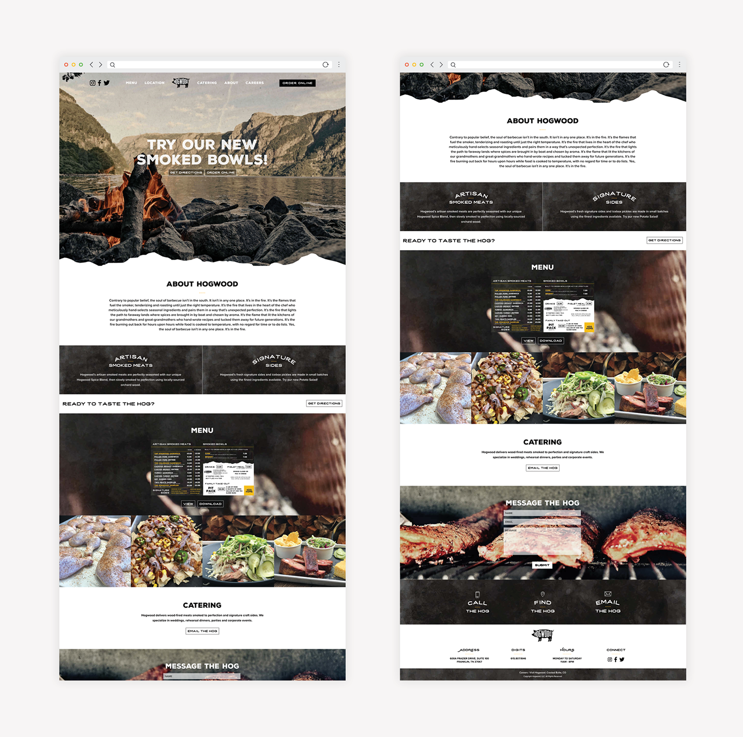 bbq restaurant responsive website development