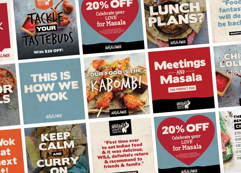 branding experts social media masala wok