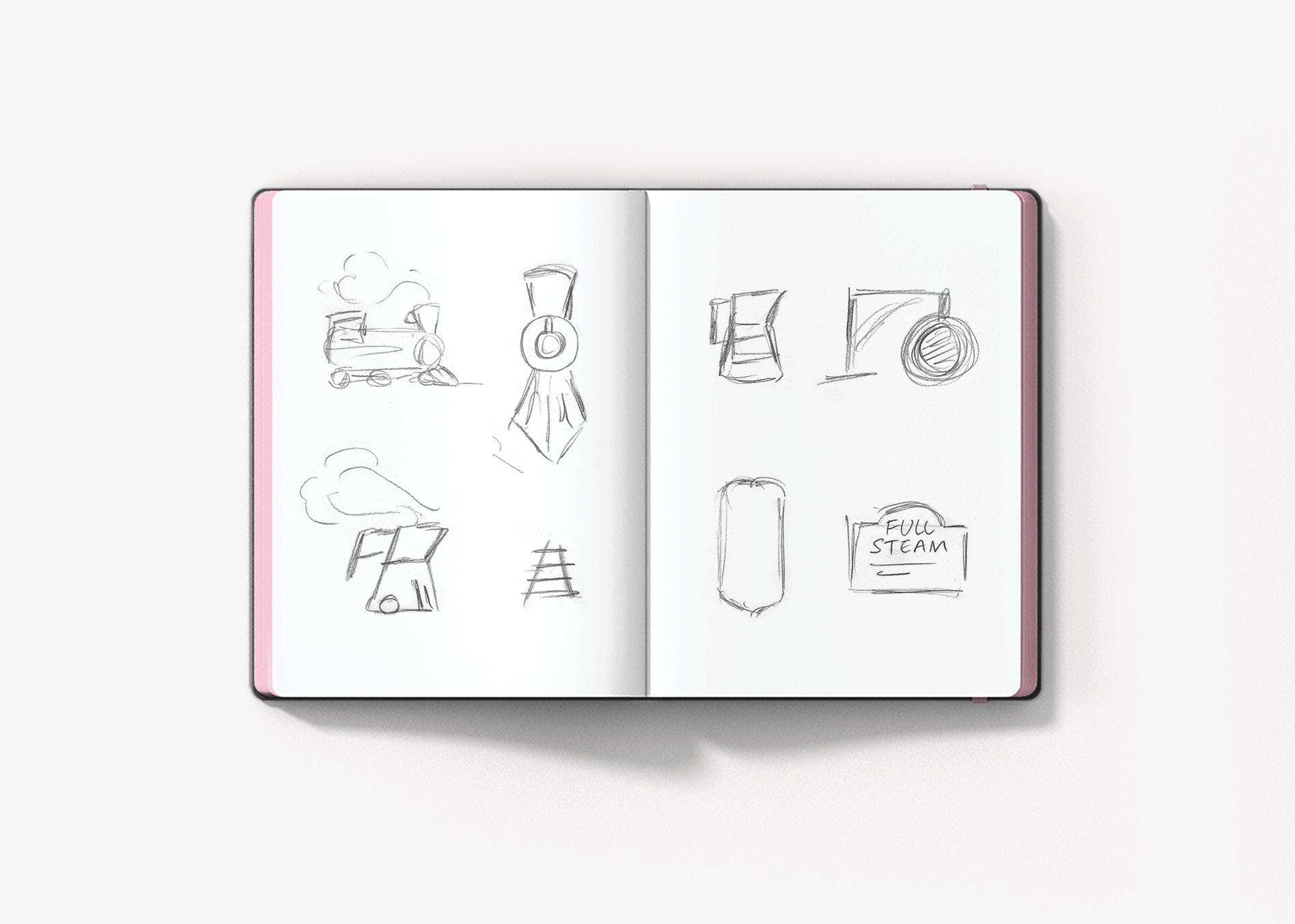 coffee shop logo design sketches