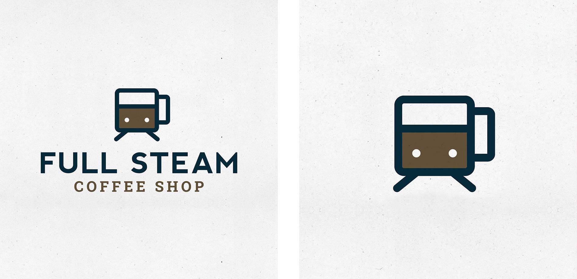 coffee shop logo icon