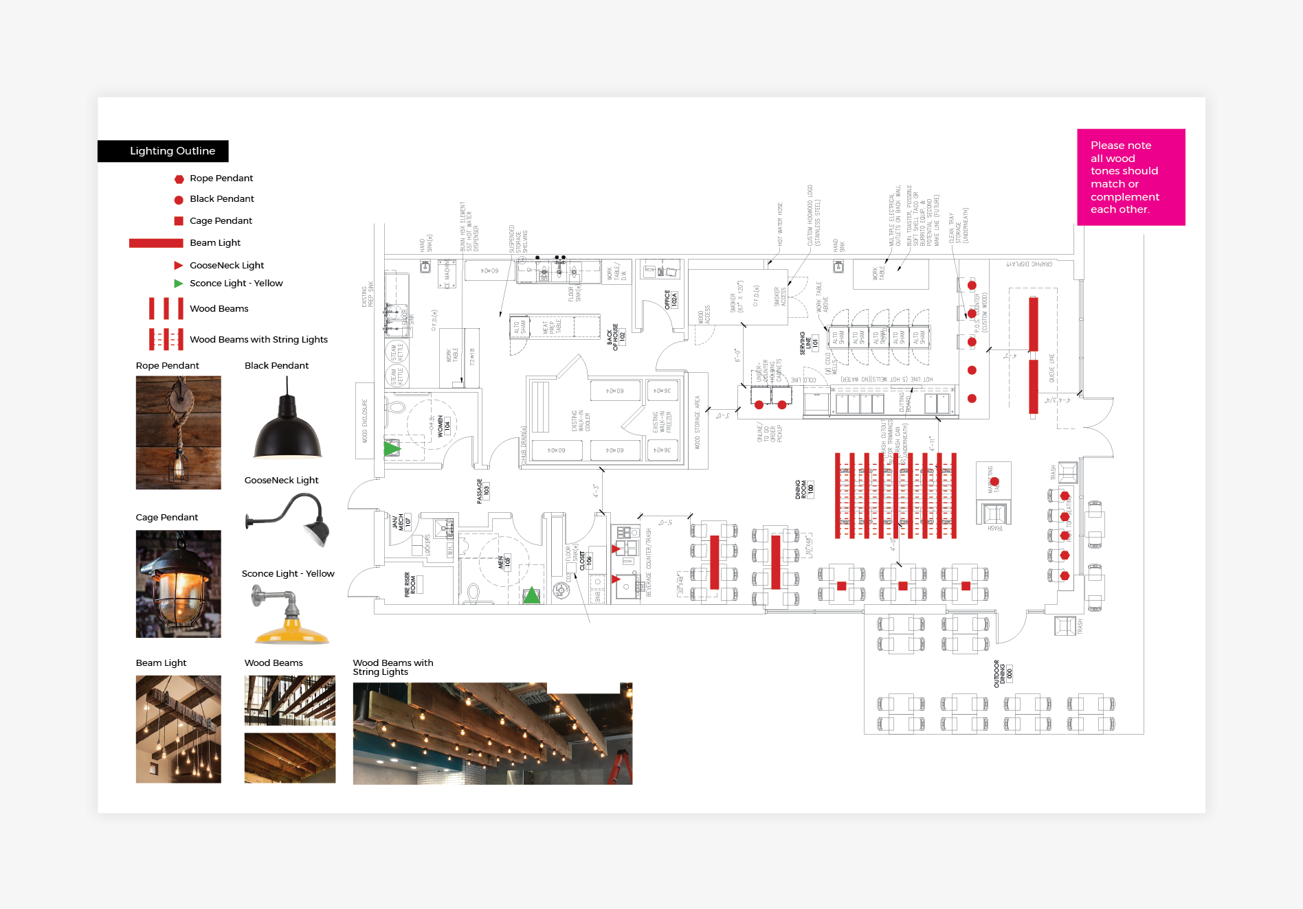bbq restaurant environmental floor plan