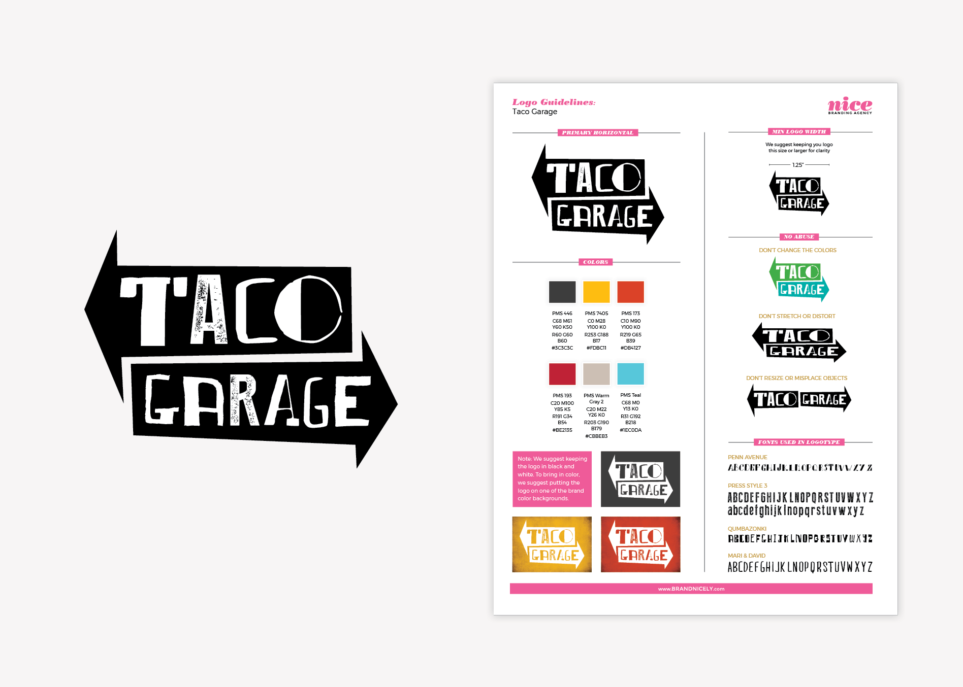 taco restaurant logo guidelines