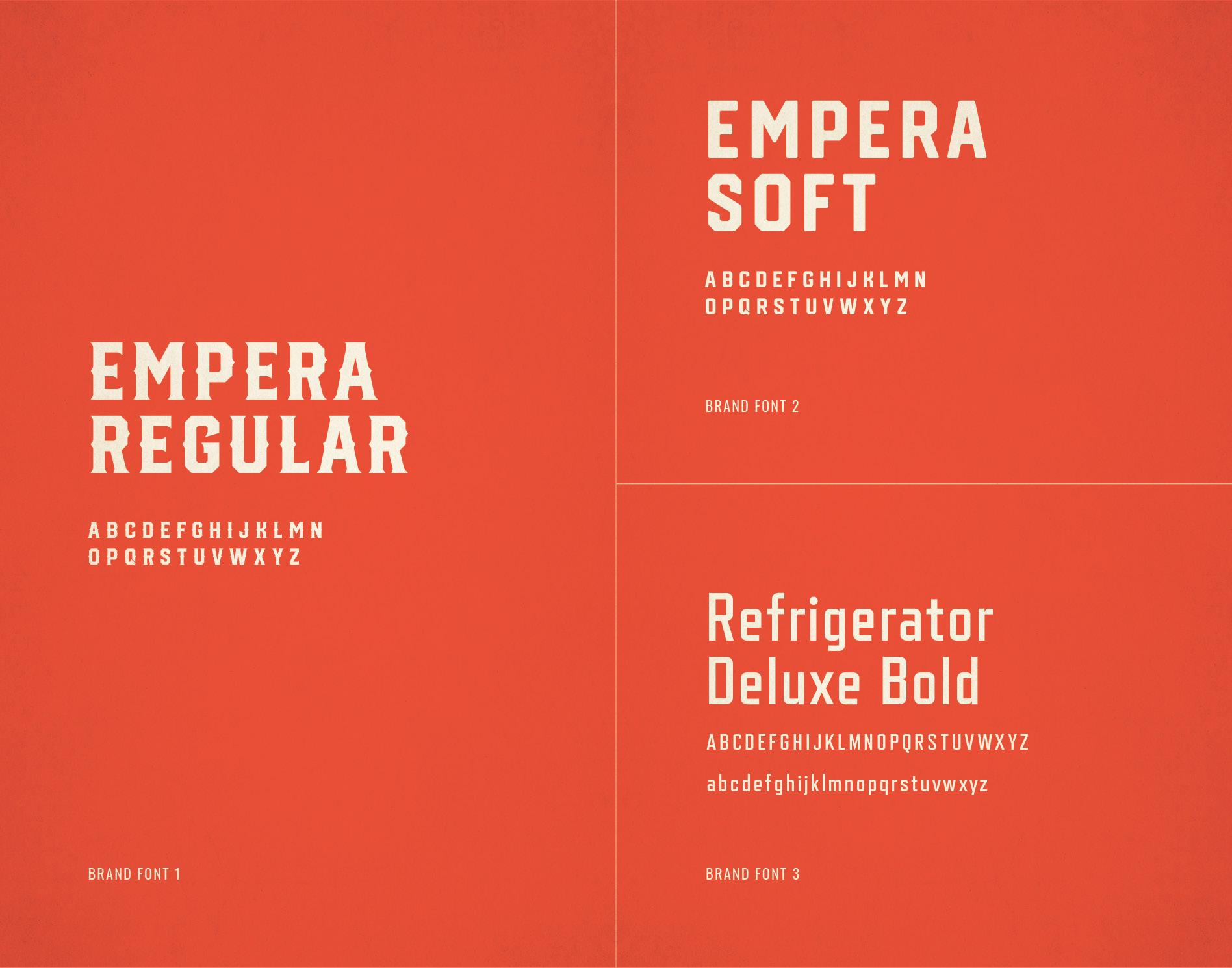 branding fonts