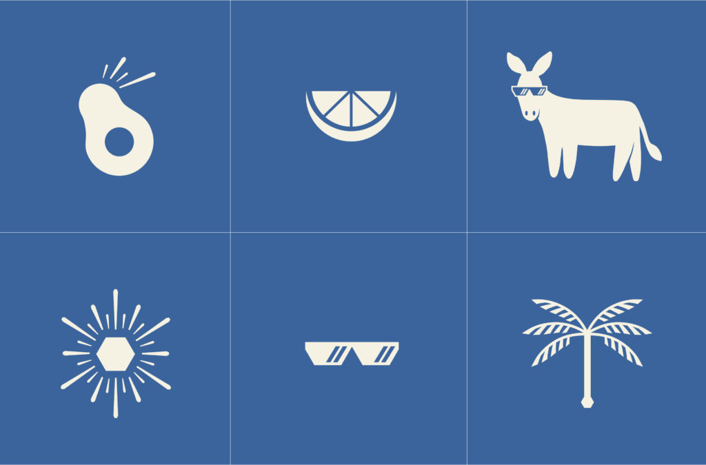 Mexican restaurant branding icons