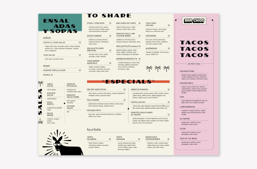 Mexican restaurant branding | menu design