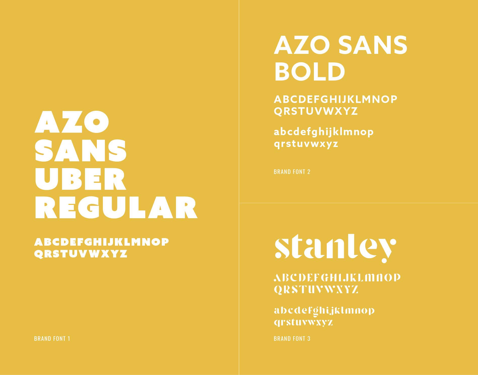 restaurant brand identity fonts